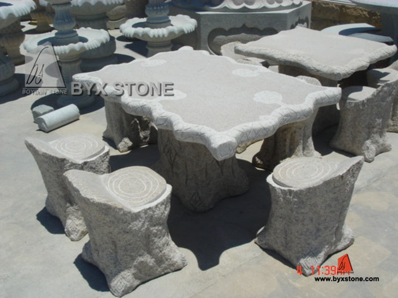 Grey Granite Stone Outdoor Park Furniture for Decoration