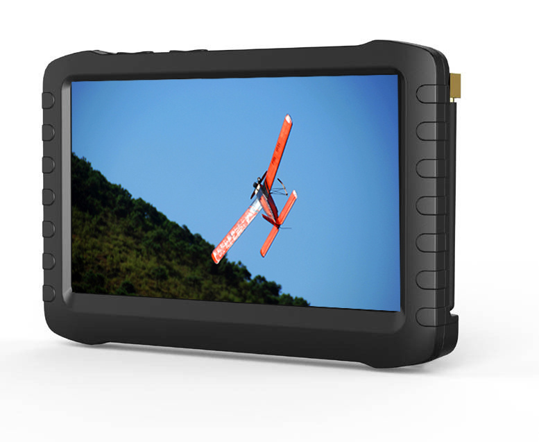 2.4/5.8GHz Wireless Clear Video Voice Recorder with 5 Inch LCD Screen Monitor Combo Receiver
