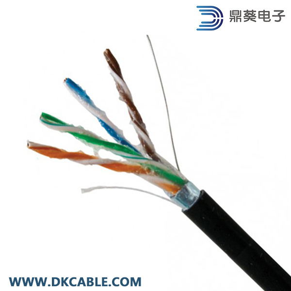 Outdoor FTP Cat5e Gel-Filled Solid LAN Cable