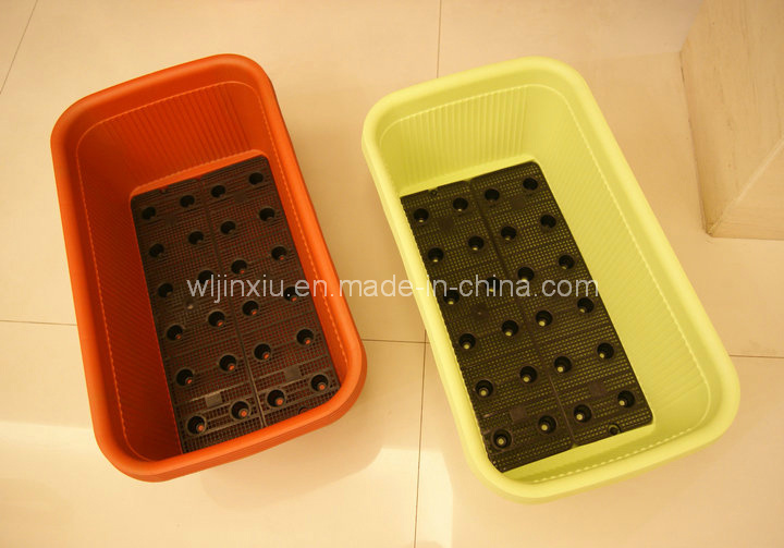 Rectangle Plastic Flower Vegetable Planter PP Plant Pot Self-Watering Home Gardening