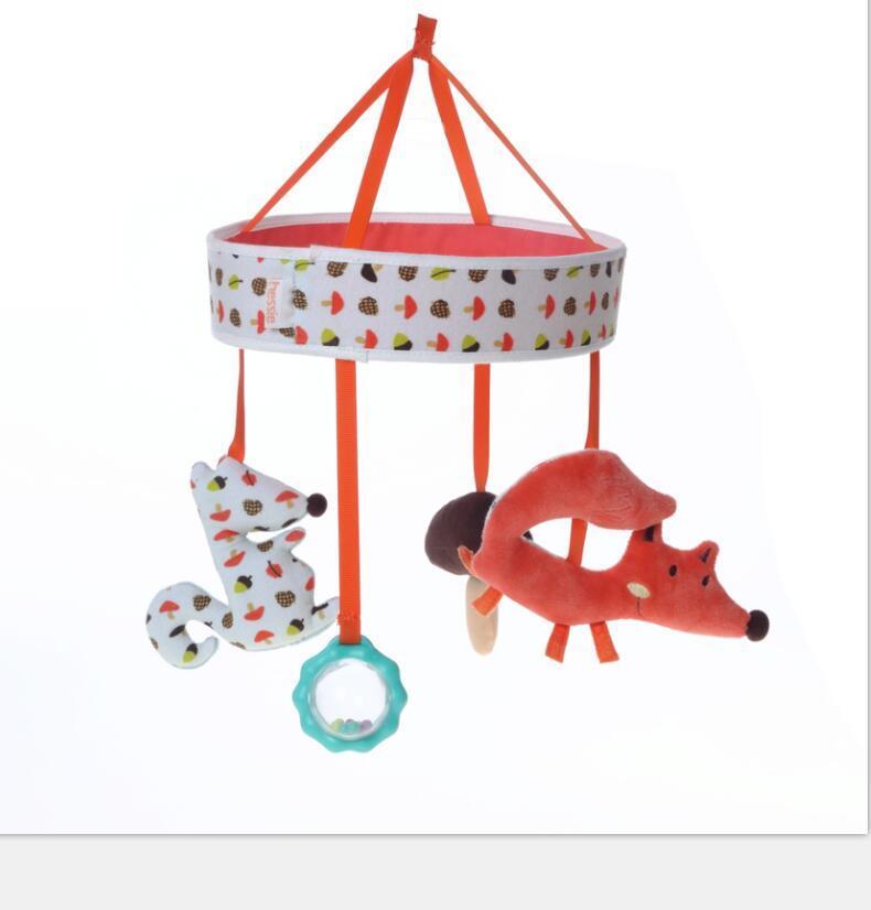 Baby Crib Musical Plush Fox Hang Toy