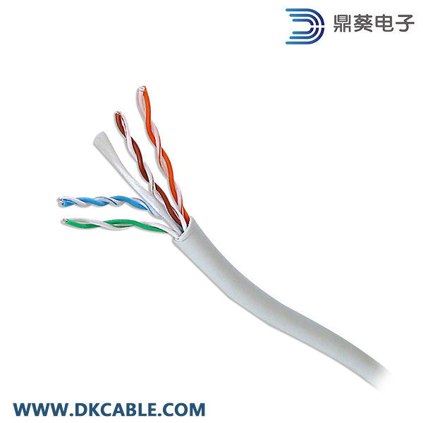 Gray Color Cat5e UTP 4pairs 24AWG LAN Cable