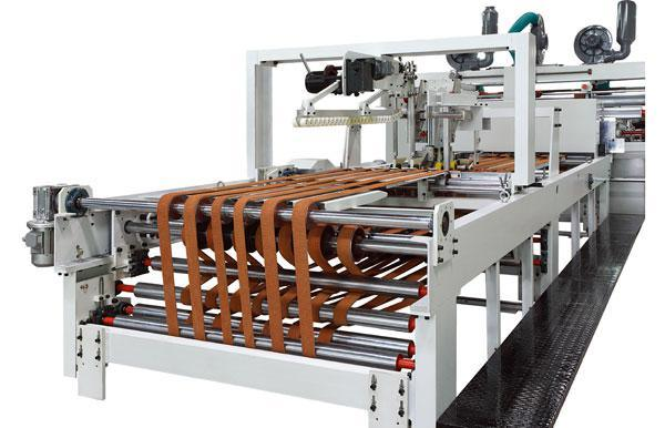 Automatic Flexo Printing Slotting Die-Cutting Folder Gluer Strapping Inline Machine