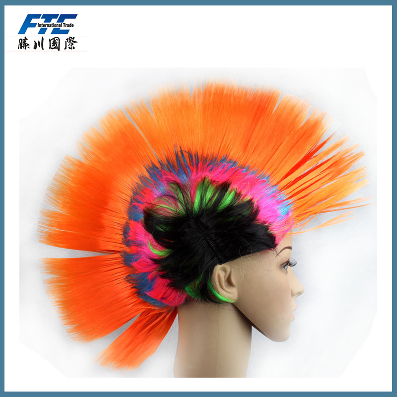 christmas Festival Rainbow Hair Wig