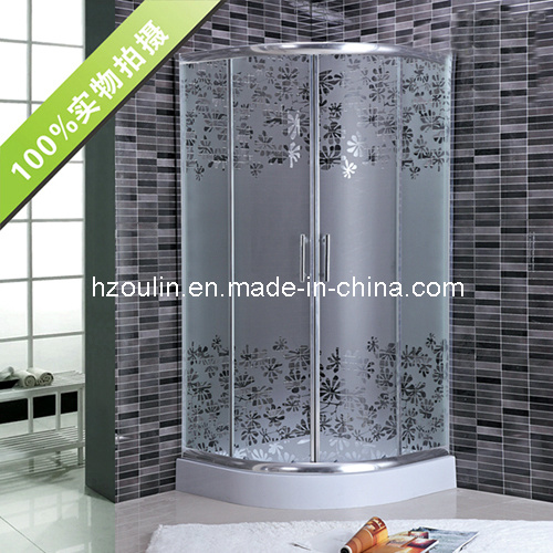 Simple Acid Glass Shower Enclosure Room with CE Certificate (AS-911)