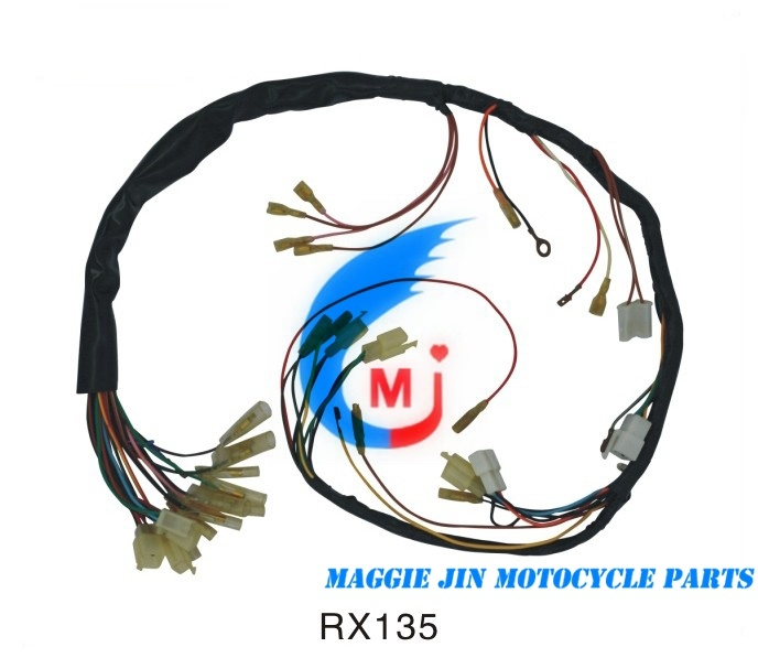 Motorcycle Parts Wire Harness for Rx135 cable wire harness company logo x wiring diagrams  at bayanpartner.co