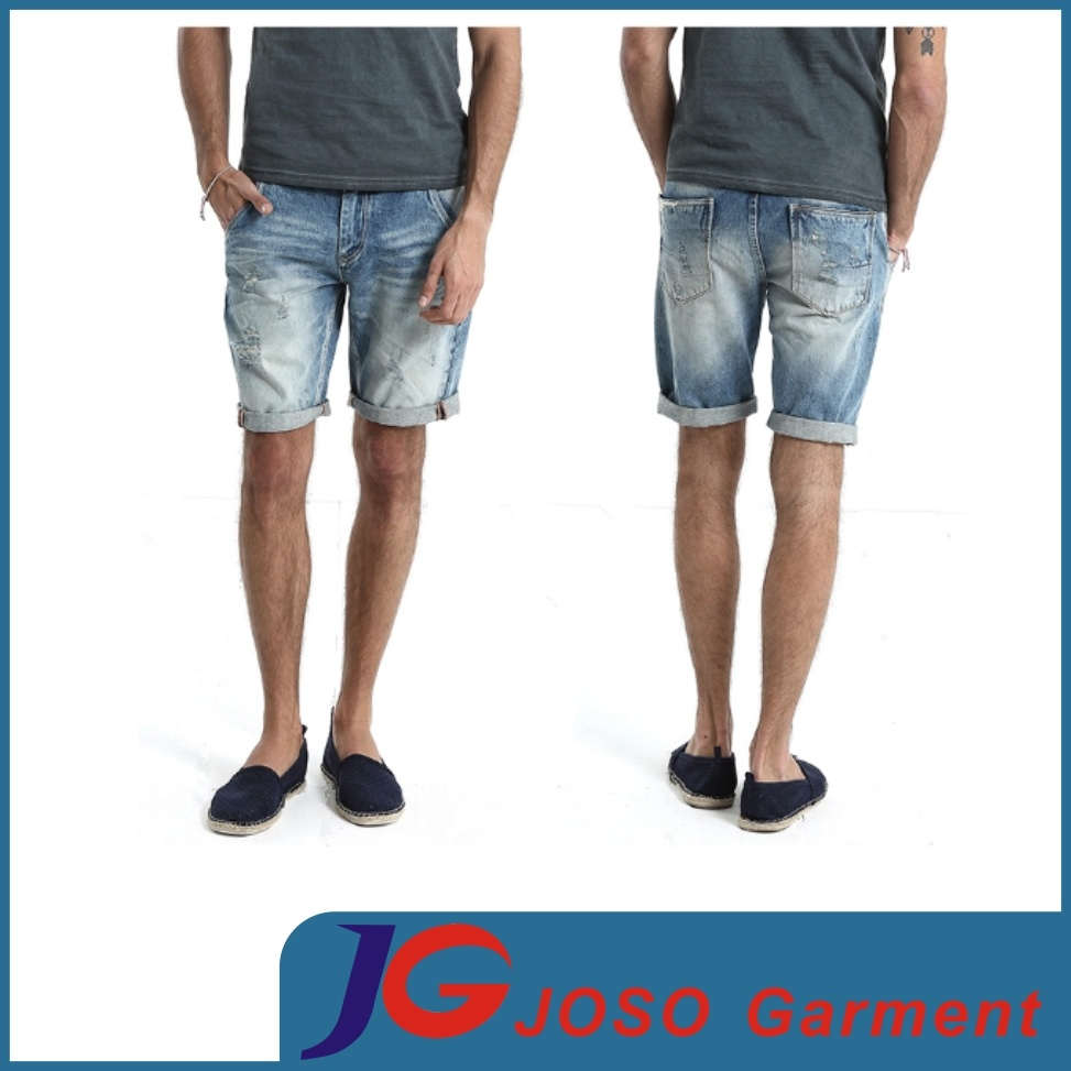 China Summer Five Pockets New Style Ripped Men Denim Shorts ...