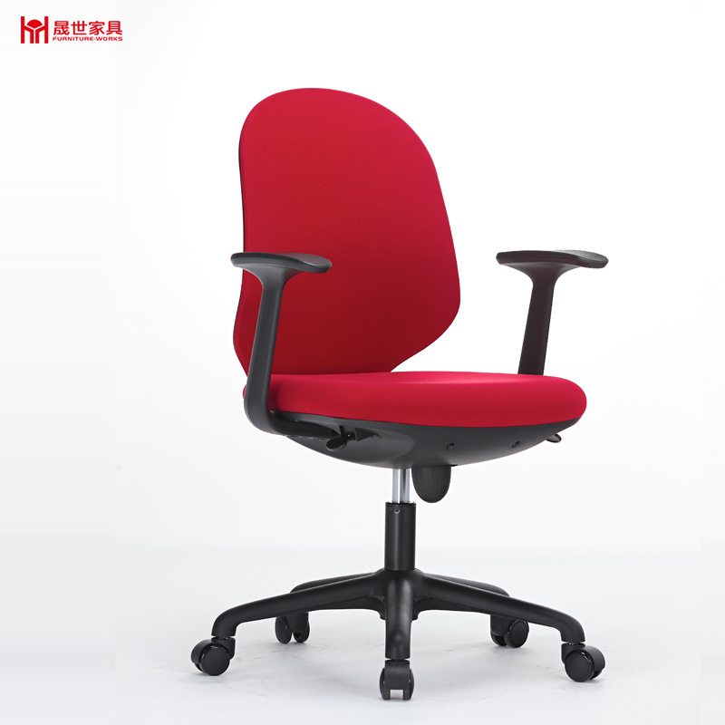 Colorful Swiveling and Lifting Fabric Office Chair