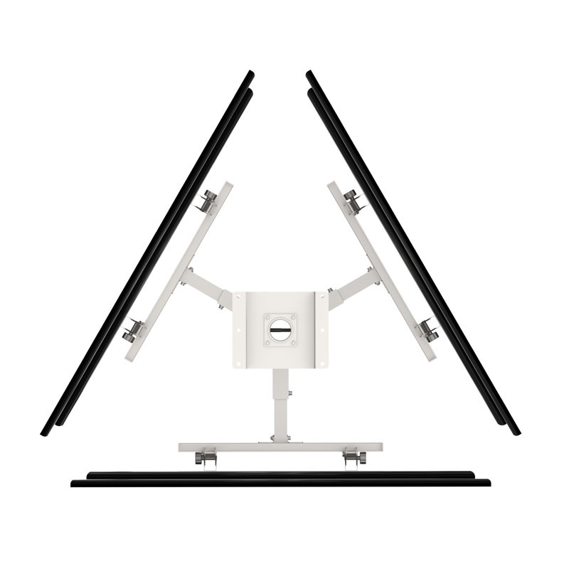 TV Ceiling Wall Mount / Bracket 3-Screens Vesa Max. 600*400