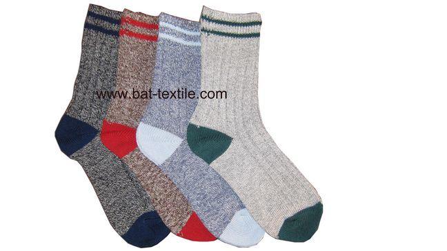 Double Needle Men Socks