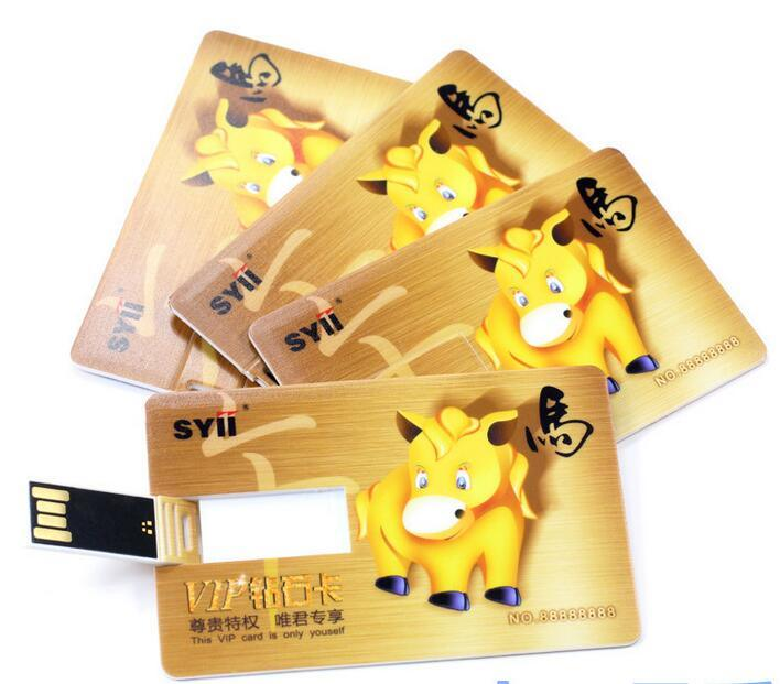 Promotional Credit Card USB Flash Drive Pen Drive 64MB-128GB Flash Memory Stick Drive Customize Logo Available