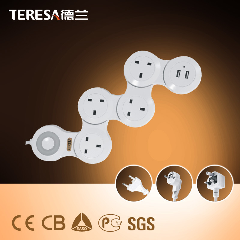 5 Way Extension Socket with USB Ports