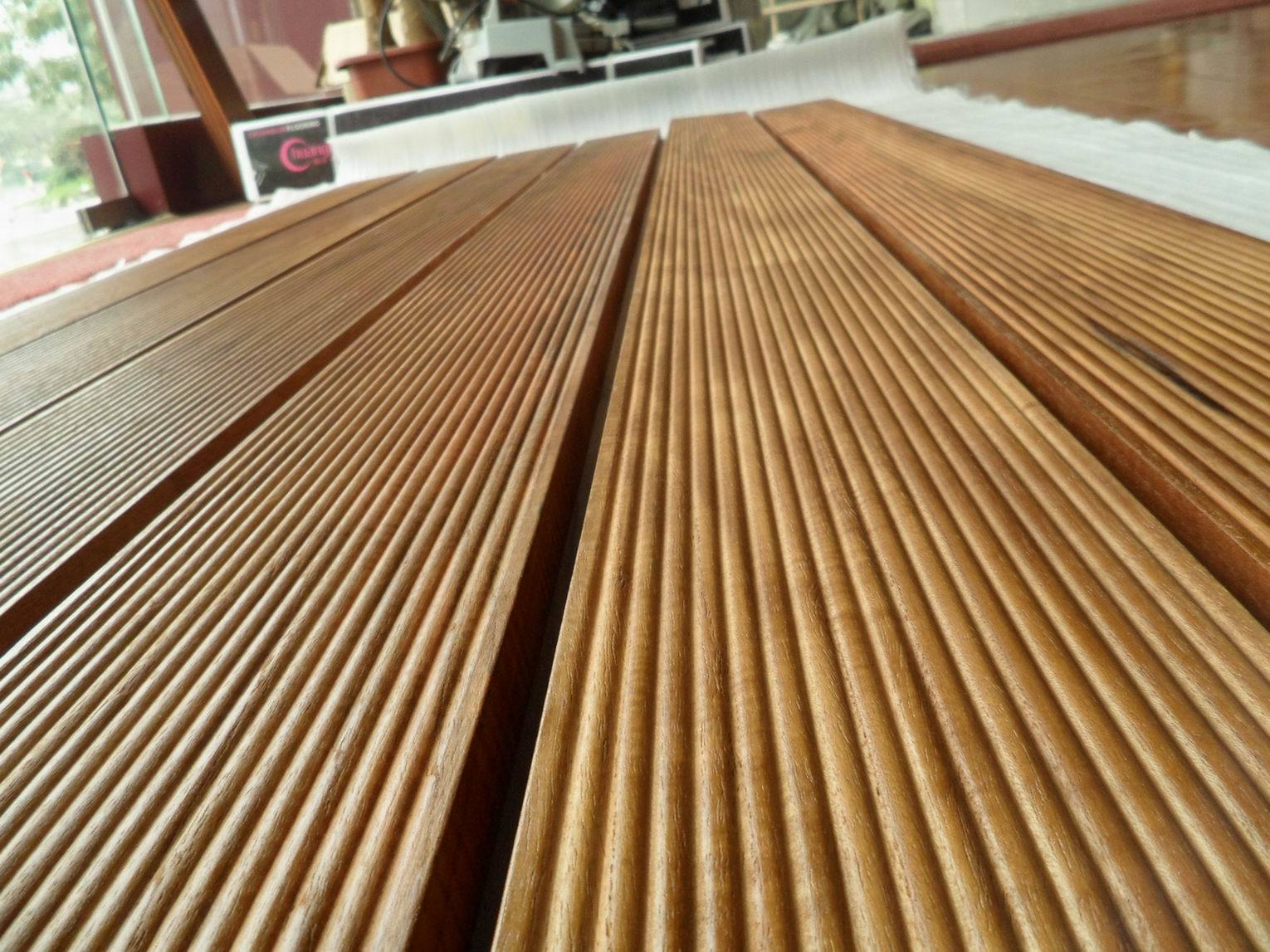 China burma teak hardwood timber decking btd xviii for Best timber for decking