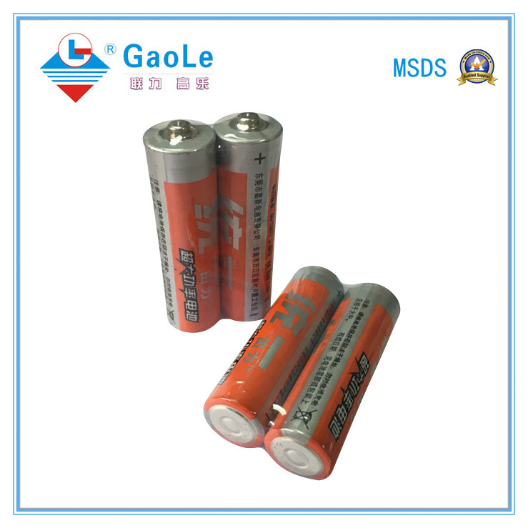 1.5V AA Carbon Zinc Battery (R6P) with MSDS SGS Certificate