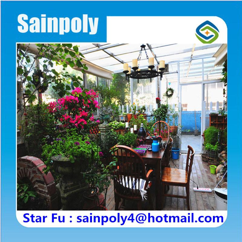 Sainpoly Brand Hot Sale Glass Garden Greenhouse