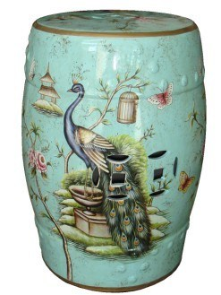 Chinese Style Porcelain Bedside Table (LS-110)
