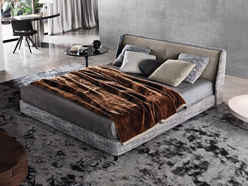 Nordic Simple Leather Fabric Bed Home Furniture