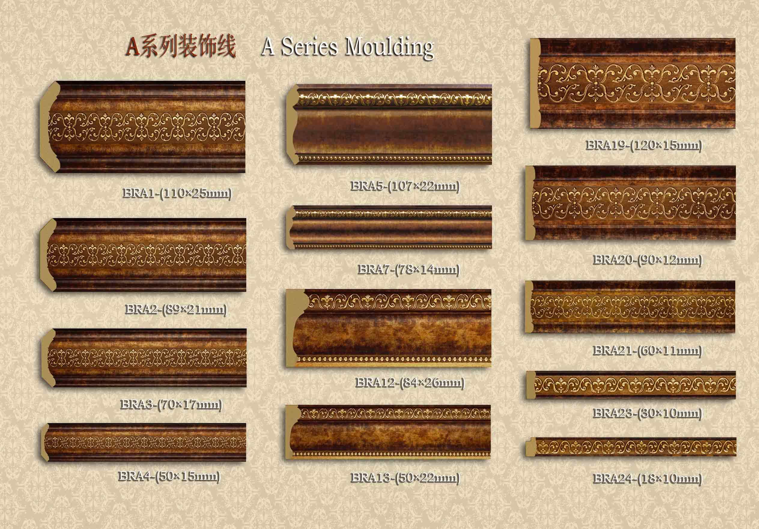 European Style PS Crown Moulding for Home Decoration