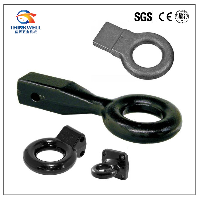 Tow Hitch Receiver Drawbar Forged Pintle Eye