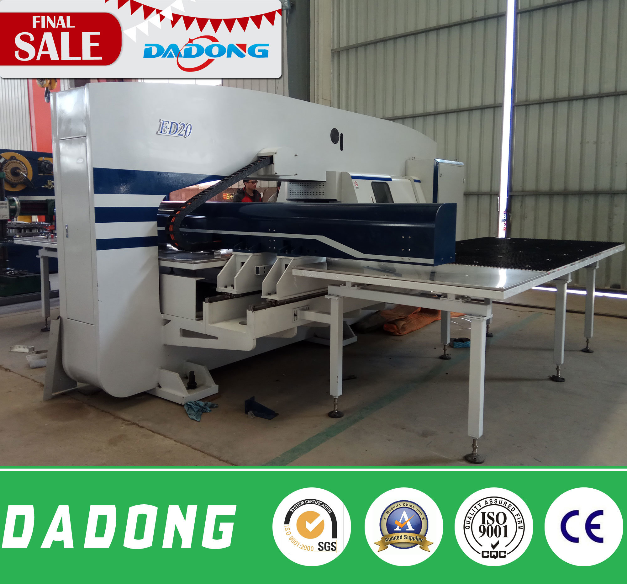 ED200 CNC Double Servo Turret Punching Machine/Stamping Machine