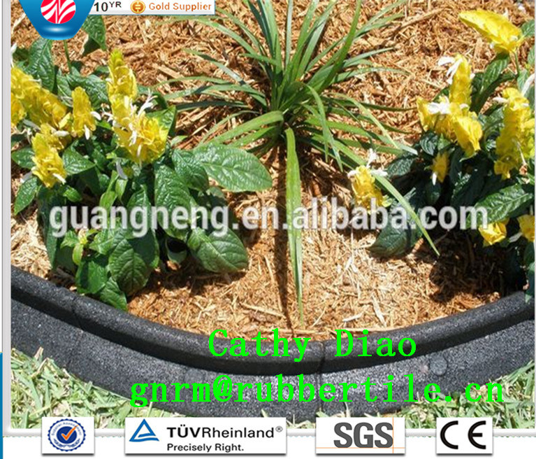 Eco-Friendly Rubber Borde/Playground Rubber Tile Garden Rubber Boarder