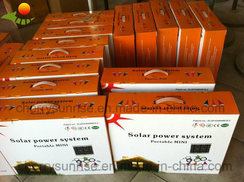 Mini Portable Solar Powered LED Light Kits 11V Solar Power Home Generators for Home Lighting