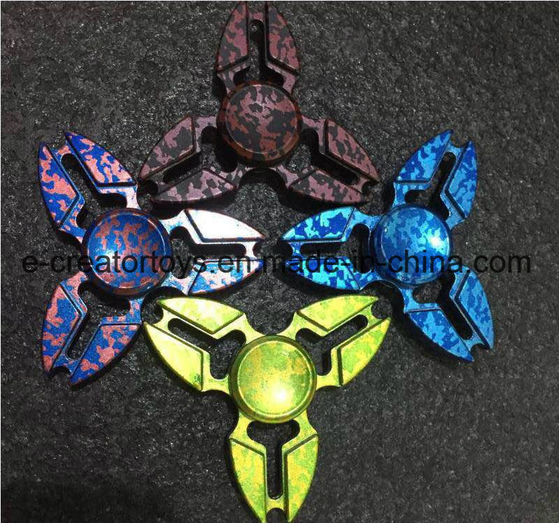 Hot Selling Alloy Fidget Spinner with Gem for Best Funny Toys /Gift