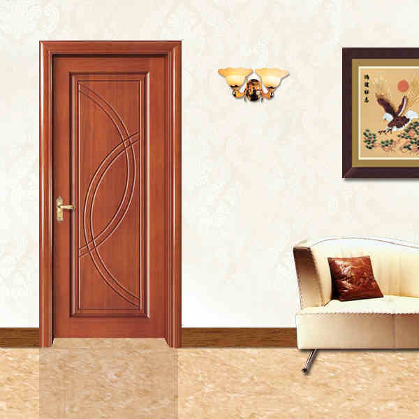 China Home Furniture Mdf Solid Wood New Popular Design Hot Selling Single Security Doors Pvc