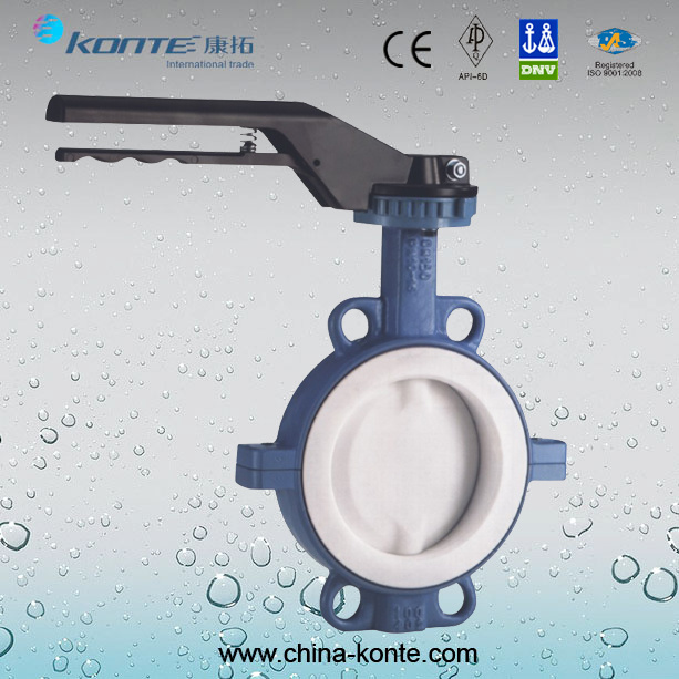 D71f-16c/P/R High Performance Full PTFE-Lining Butterfly Valve