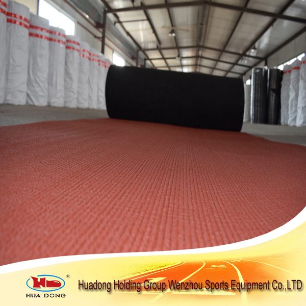 Iaaf Certificated Eco-Friendly Prefabricated Rubber Running Track