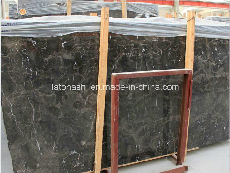 Chinese Dark Emperador Marble Slabs for Tile, Countertop