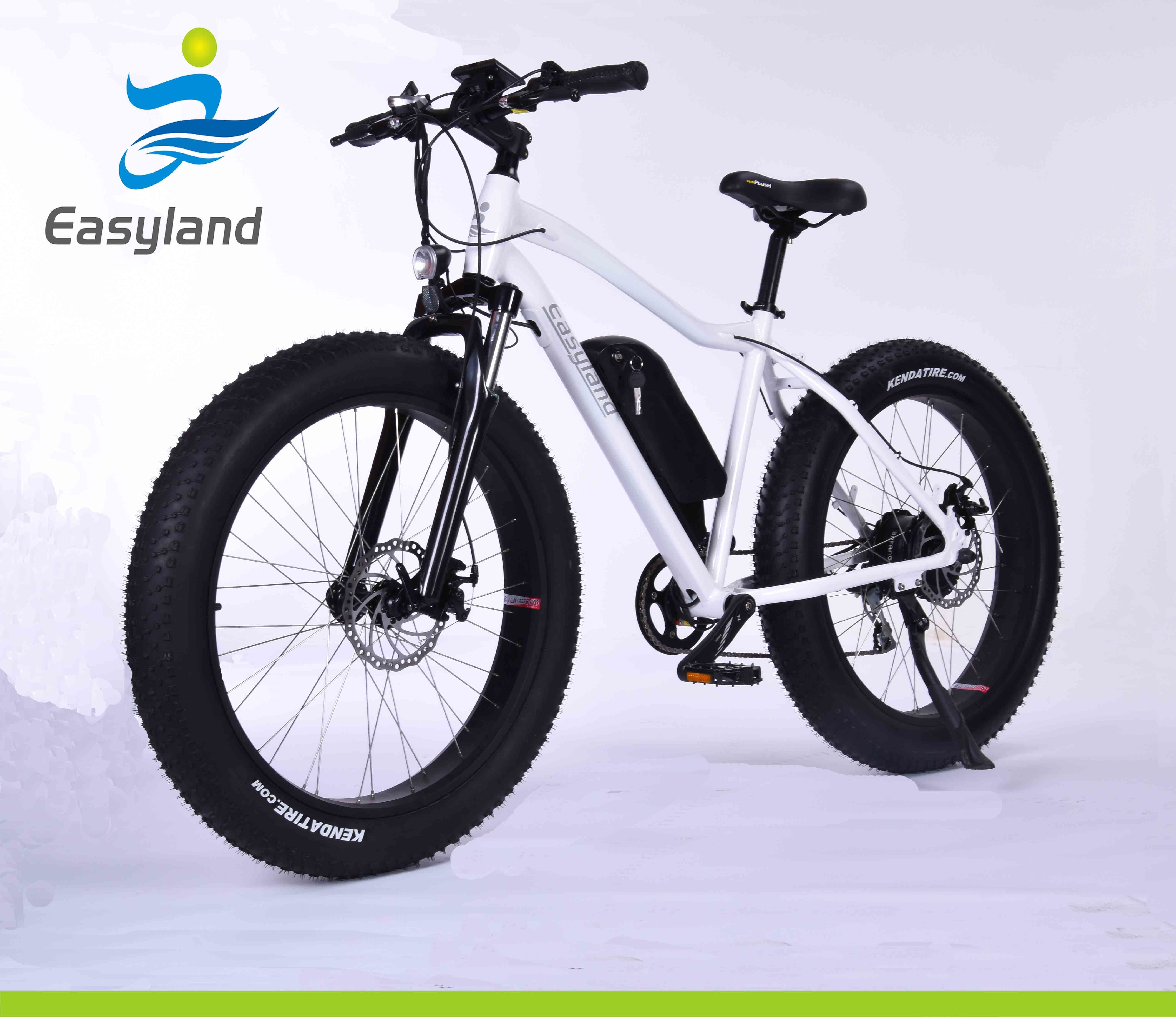 """26"""" Fat Tire Electric Bicycle with 48V 500W Motor"""