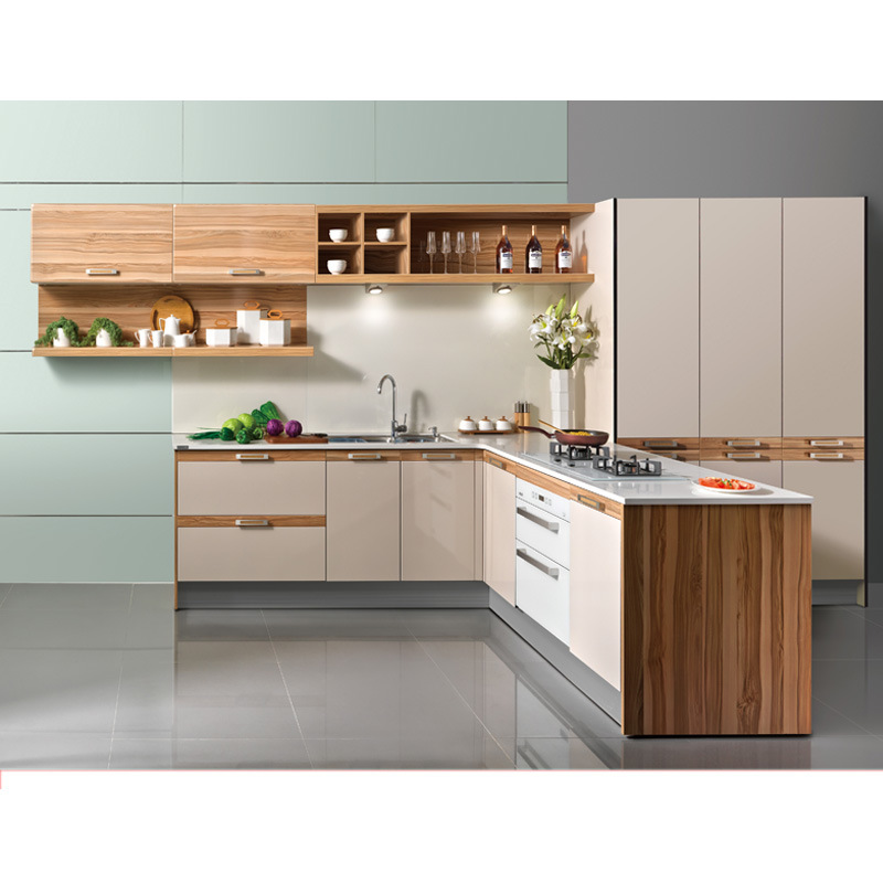 Melamine Acrylic Country Style Of Kitchen Cabinet New Design Cabinets