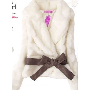 Best Babyhclub Soft Lapel Faux Fur Fluffy Warm Winter Waist Coat Jacket