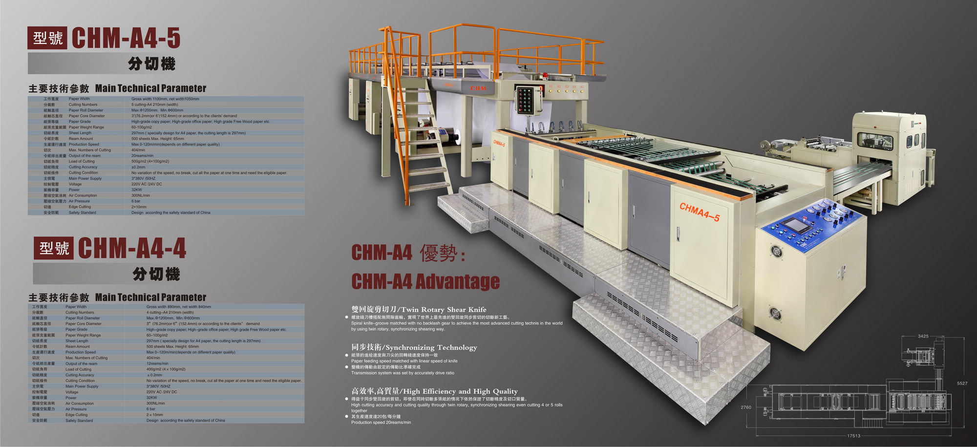 A4 Size Paper Sheeting Machine (CHM-A4-4)