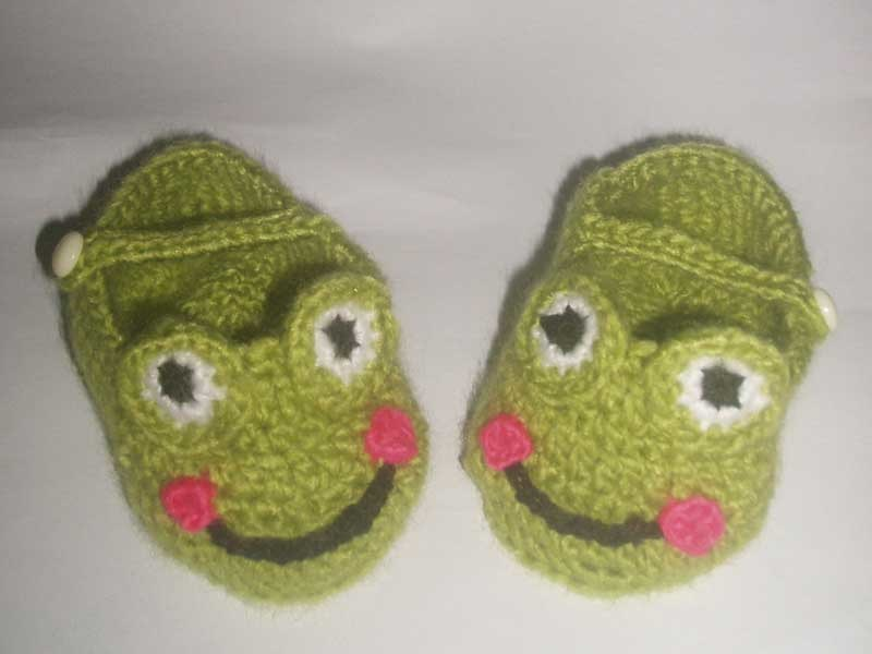 Crocheting Baby Shoes : China Crochet Baby Shoe (frog design) - China Baby Shoe, Infant Shoe