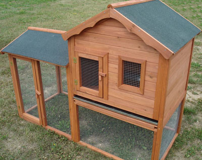 Pin outdoor rabbit hutch on pinterest for How to make a bunny hutch