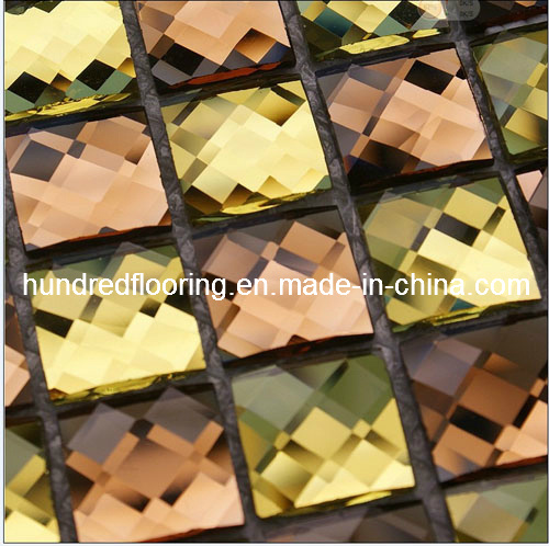Mixed Color Diamond Glass Mosaic Tile (HD31)