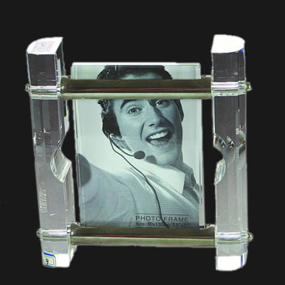 Crystal Glass Cube Photo Frame (JD-XK-075)