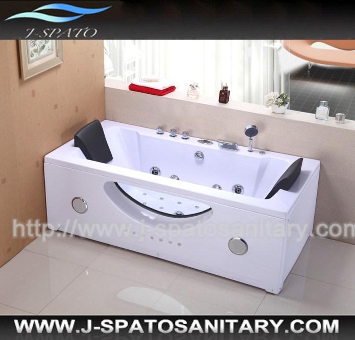 petite baignoire de nouveau massage en verre carr de luxe. Black Bedroom Furniture Sets. Home Design Ideas