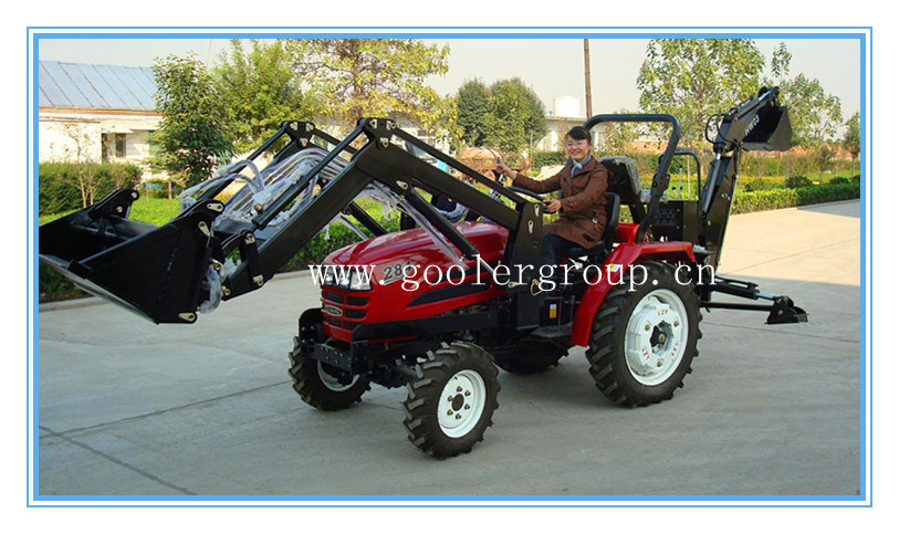 China small tractor fit with front end loader backhoe china front end loader garden tractor for Small garden tractors with front end loaders