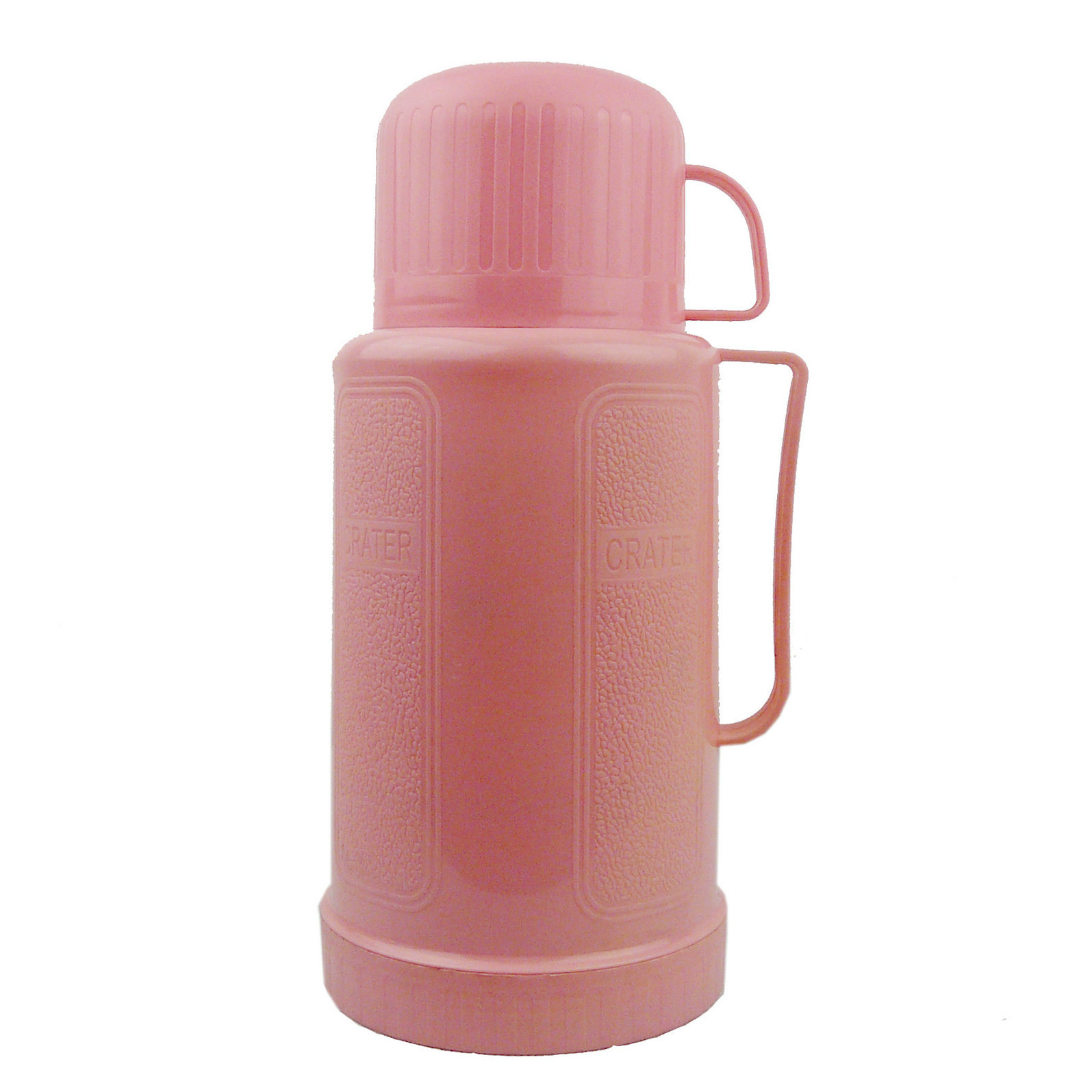 High Quality Plastic Cap Pink Vacuum Flask Thermos