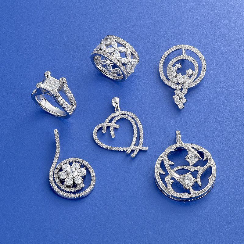 Fashion Jewelry CZ Pendant Ring