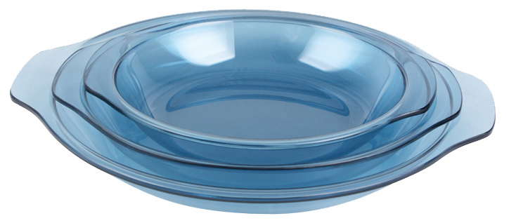 Tempered Glass Bakeware (Navy Blue)