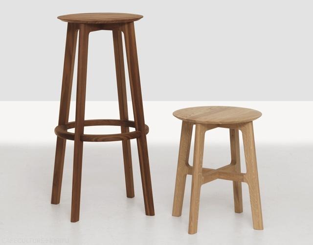 Modern Solid Ash Wood High Bar Chair