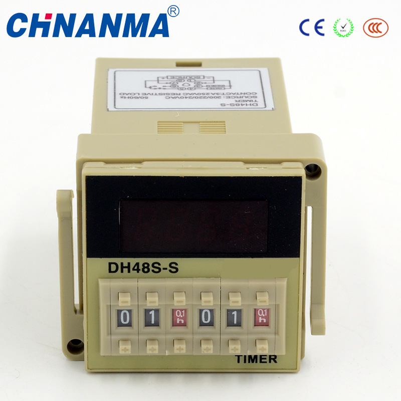 Dh48j LED Display Wide Range Cycle Digital 220V Time Relay