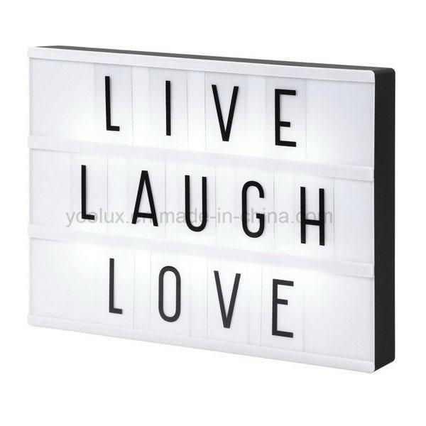 Free Combination Letters Photo Movie Cinema LED Light Box