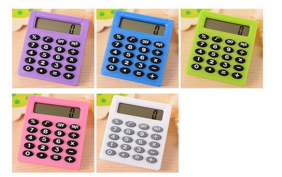 Portable Mini Calculator for Students, Office Stationery Square Calculator Promotion
