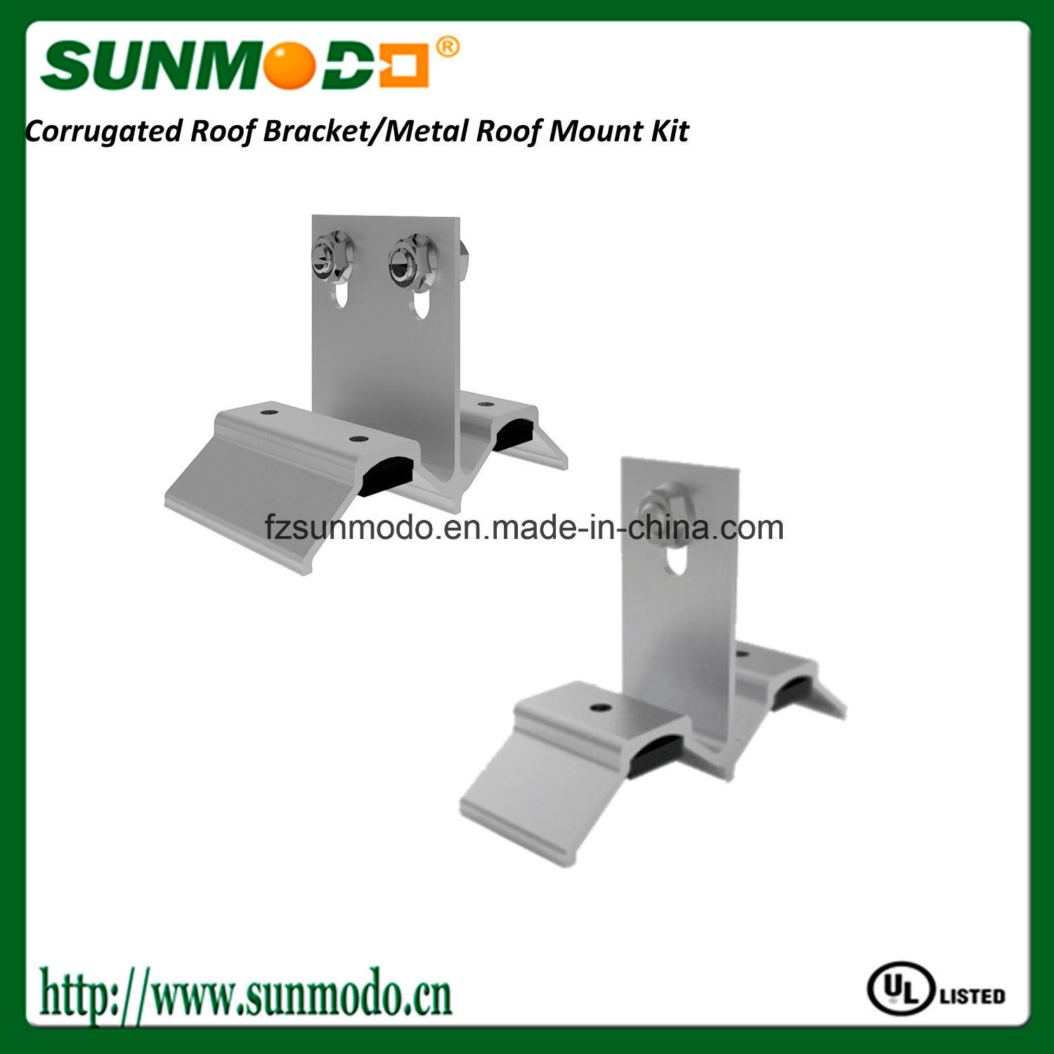Corrugated Metal Roof Solar Mount Kit with EPDM Rubber Gaskets