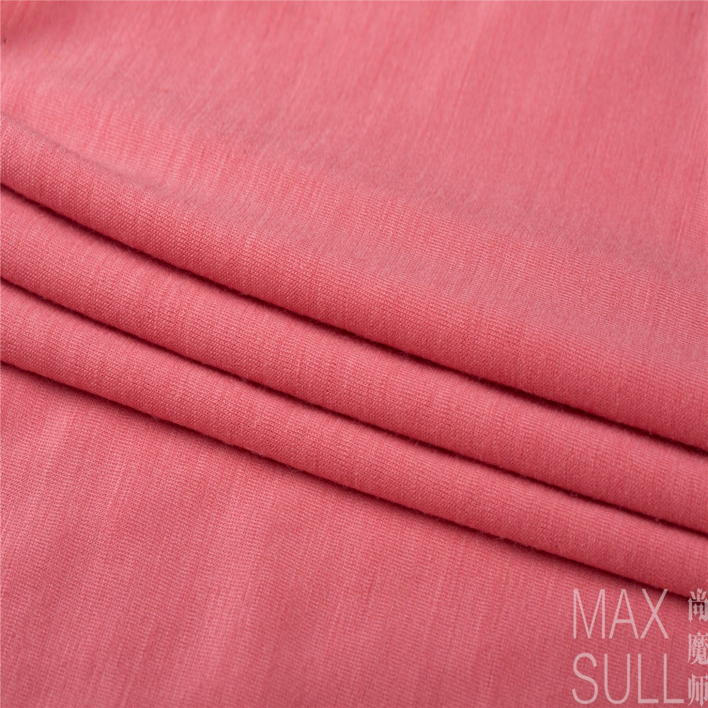 100% Machine Wash Wool Fabric for Nightdress in Light Red